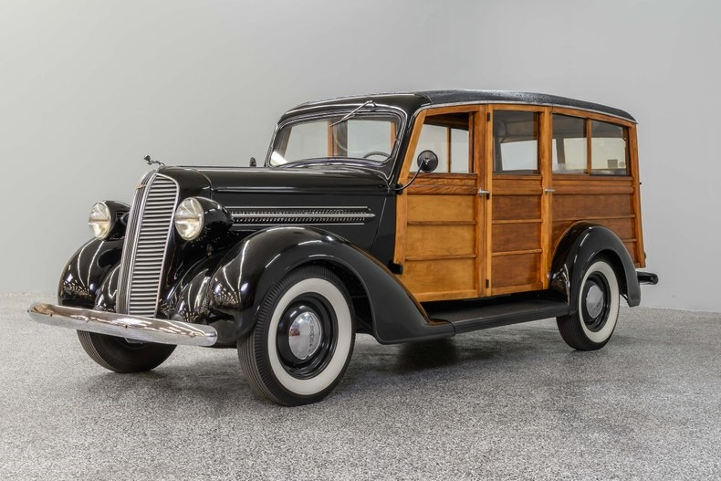 1937 Dodge Westchester Suburban Woodie Wagon 1937 Dodge Westchester Suburban Woodie Wagon 5372 Miles Black/ Natural Finish Wo